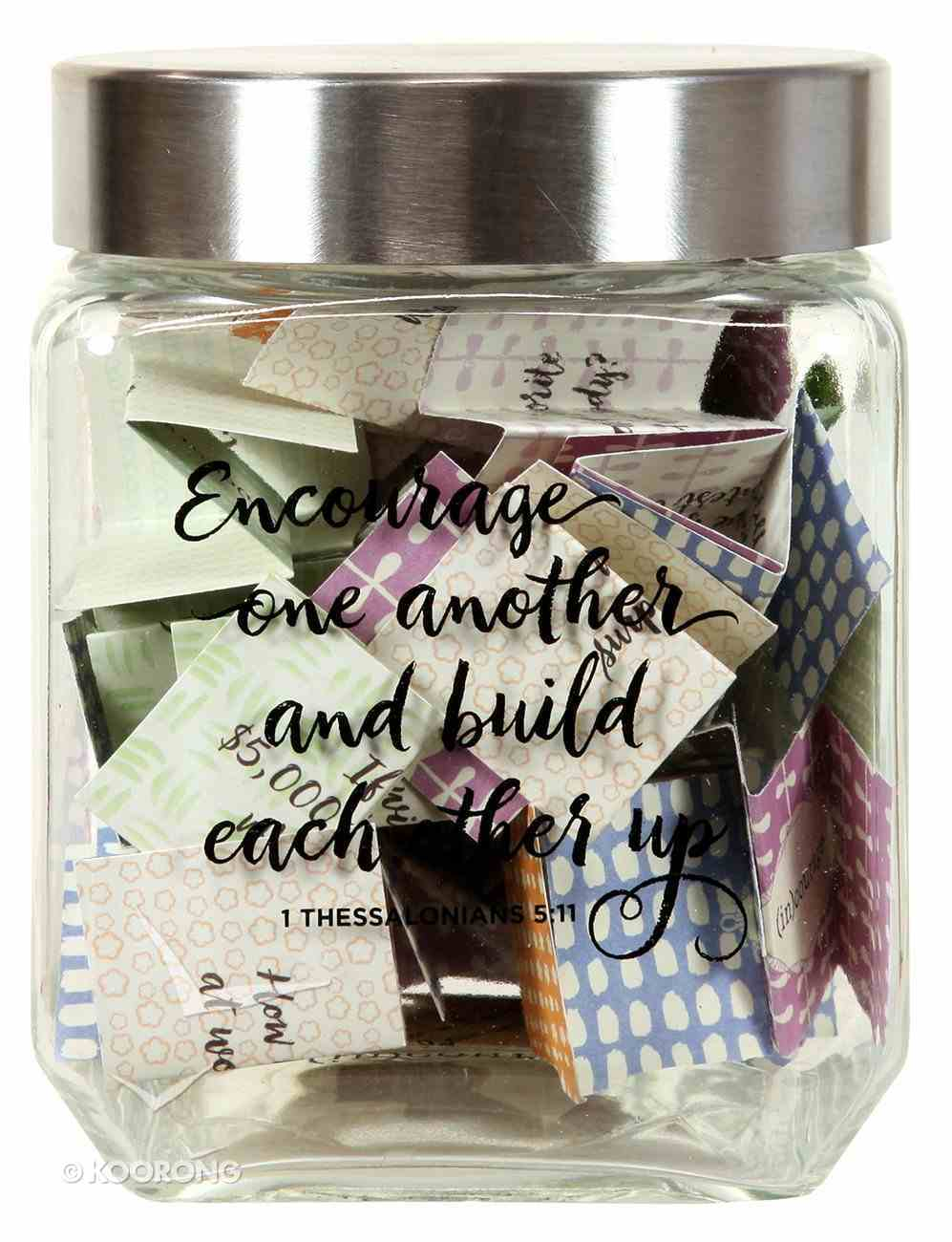Conversation Starter Jar: Encourage One Another and Build Each Other Up (1 Thess 5:11) ((In)courage Gift Product Series) Homeware