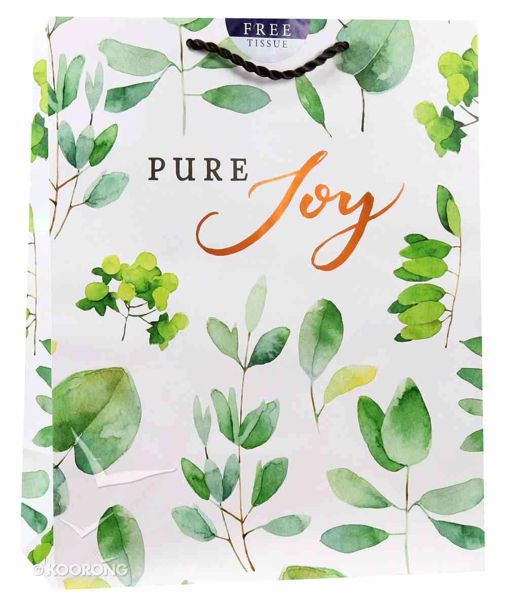Gift Bag Large: Pure Joy (Incl Two Sheets Tissue Paper, Copper Foil) Stationery