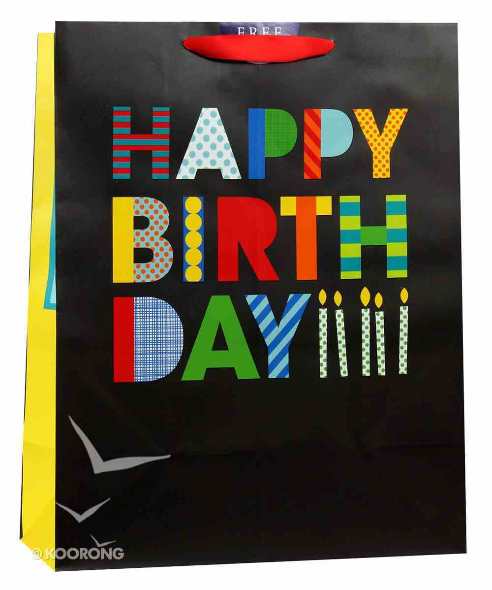 Gift Bag Large: Happy Birthday Bold (Incl Two Sheets Tissue Paper) Stationery