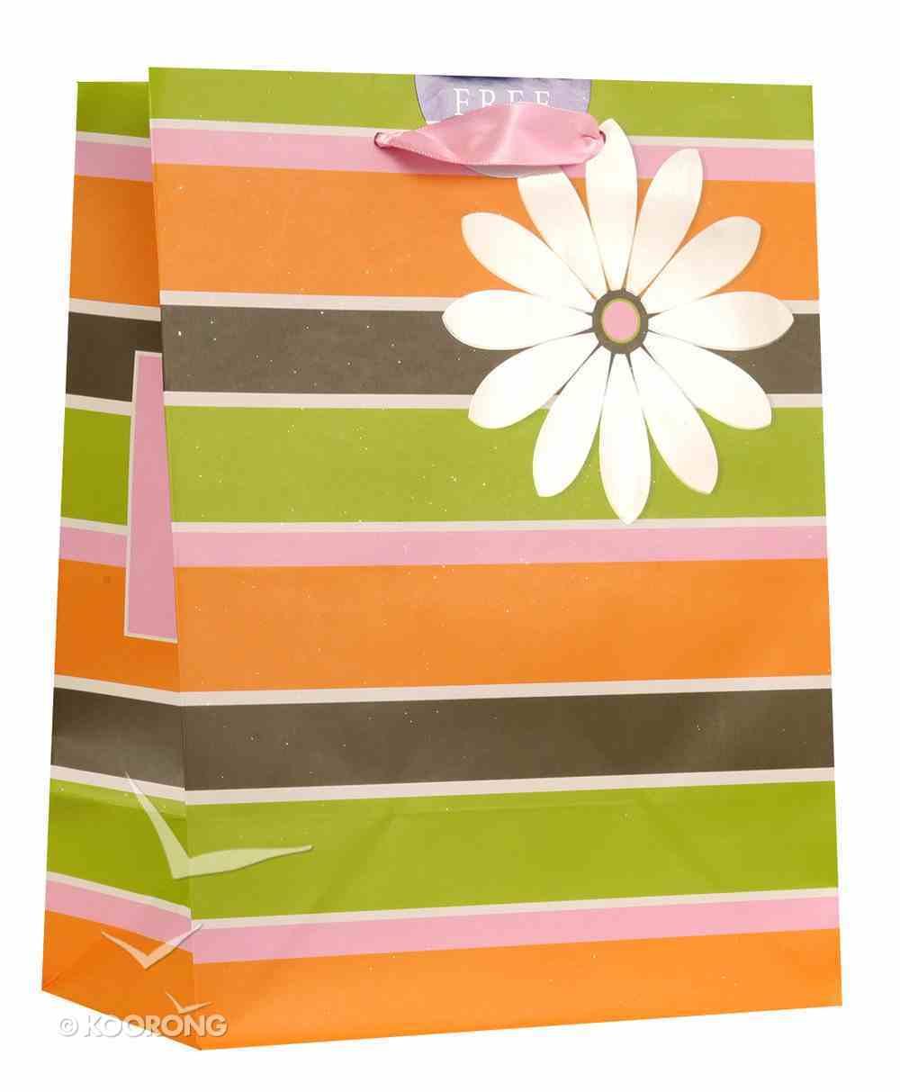 Gift Bag Medium: Stripes & Flower (Deut 26:11) Stationery