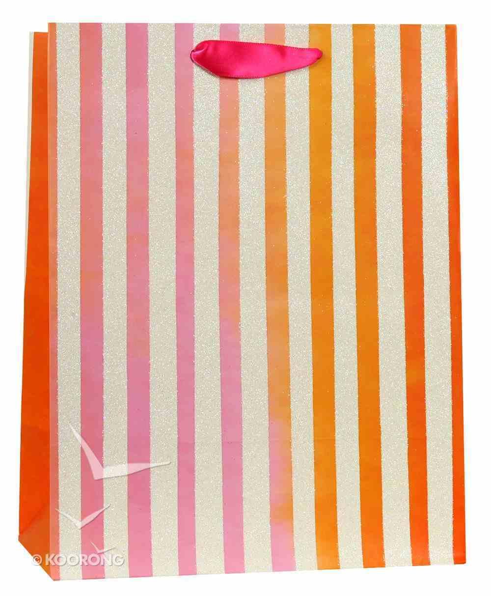 Gift Bag Meduim: Pink Orange Stripes (James 1:17) Stationery