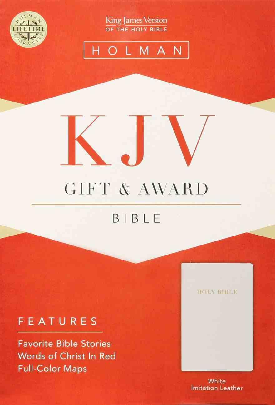 KJV Gift Award Bible White Imitation Leather