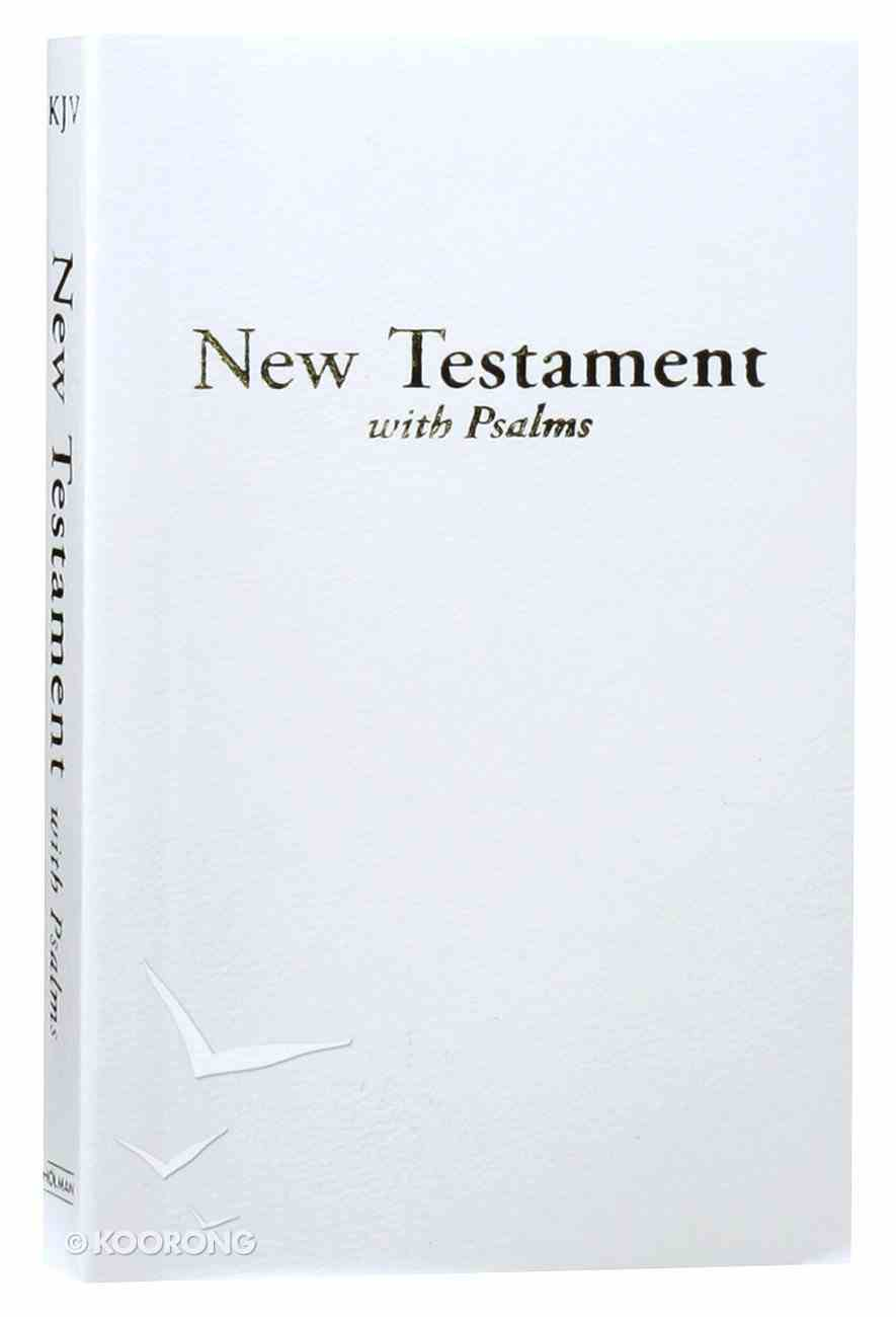 KJV Economy New Testament With Psalms White (Red Letter Edition) Imitation Leather