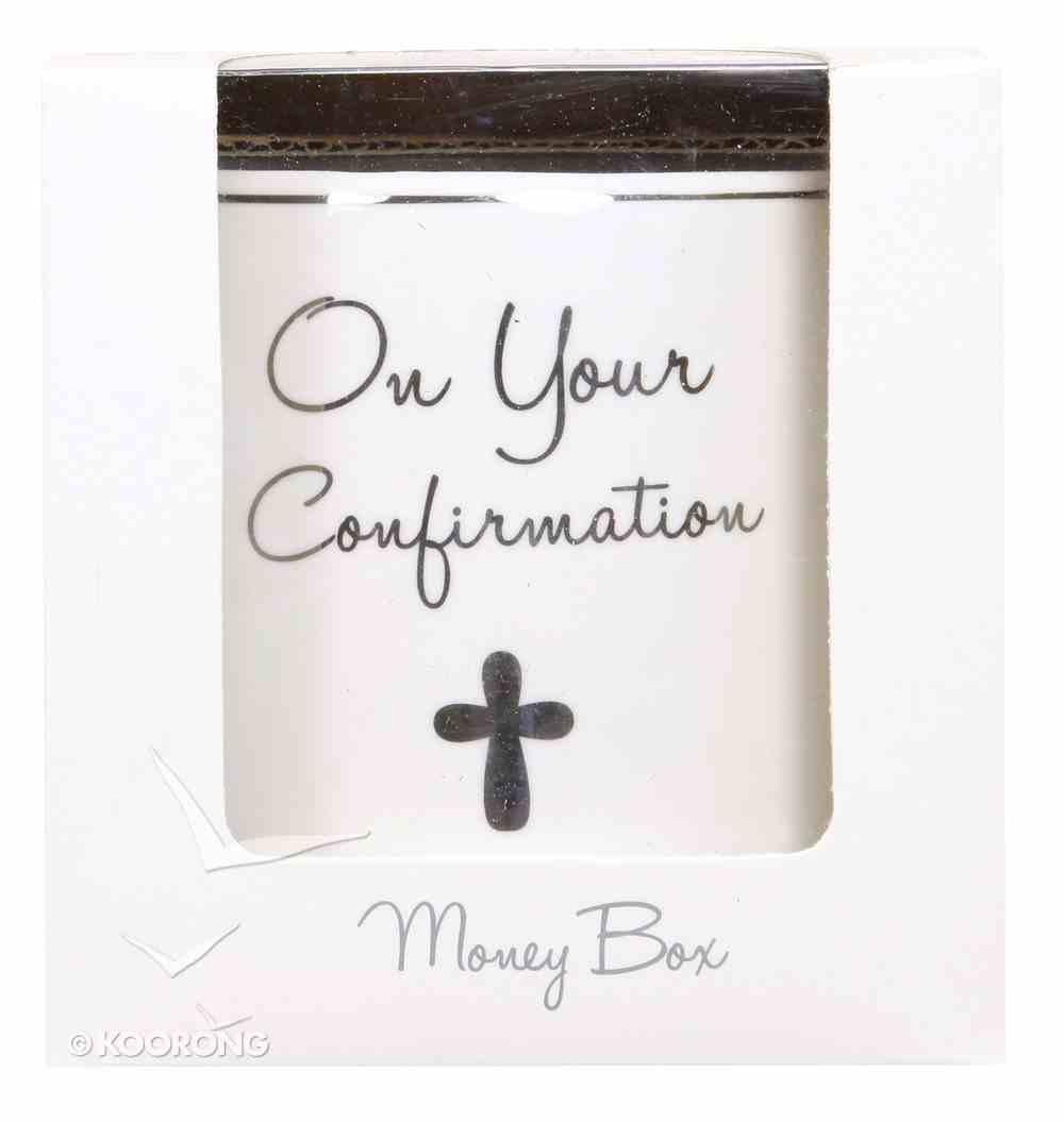 Ceramic on Your Confirmation Money Box, White/Silver Homeware