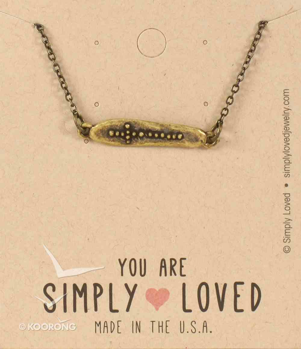 Simply Loved Necklace: Long Dot Cross, Brass-Ox Plated 45.72Cm Chain Jewellery