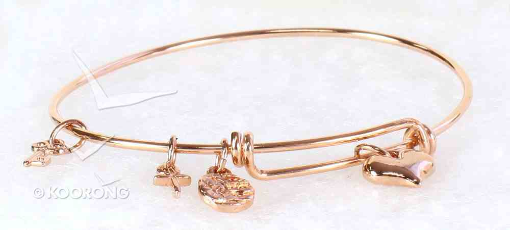 Bracelet Simply Loved Design: Puffy Heart, (Rose Gold Plated) Jewellery