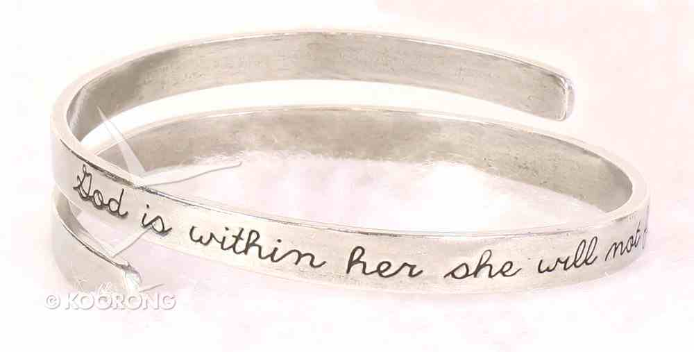 Bracelet Simply Loved Design: God is Within Her (Pewter) Jewellery