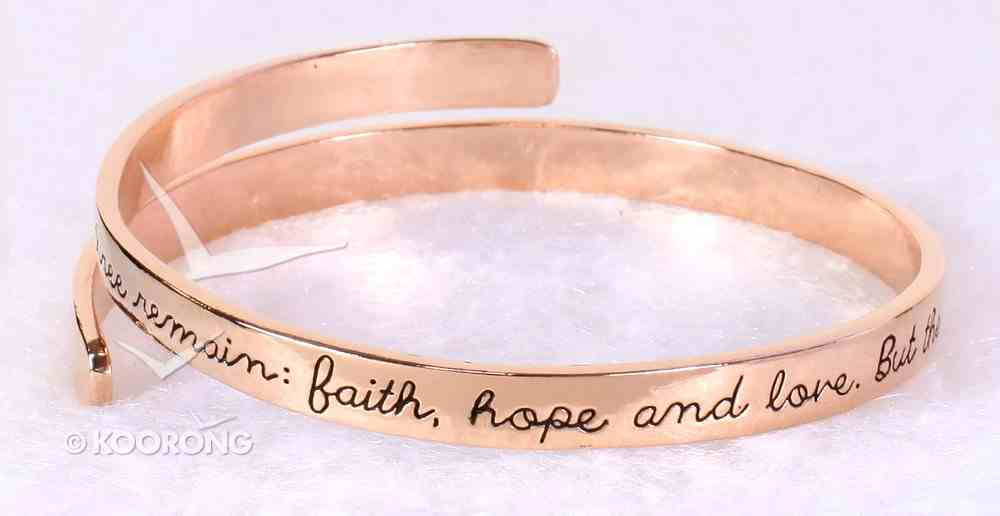 Bracelet Simply Loved Design: The Greatest is Love (Rose Gold Plated) Jewellery
