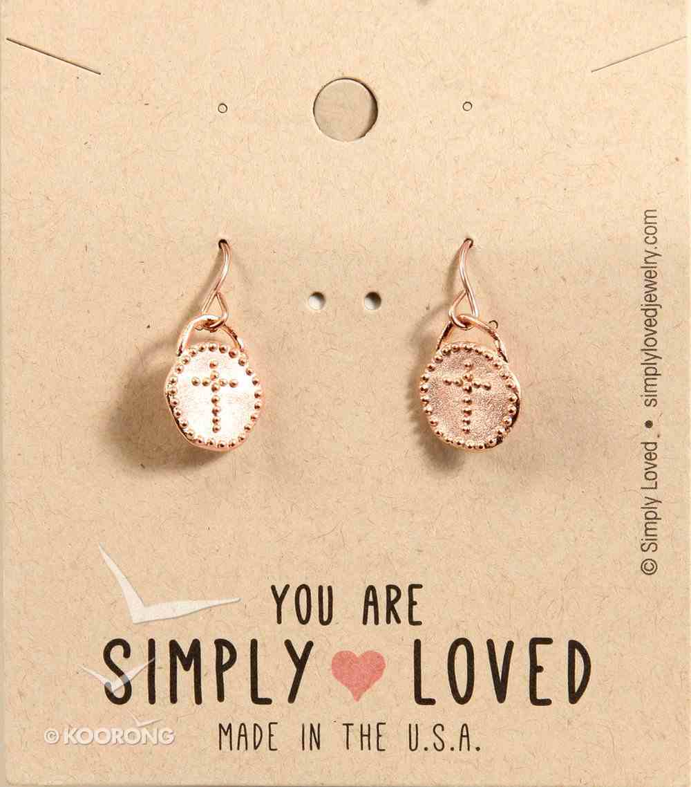 Earrings Simply Loved Design: Dot Cross (Rose Gold Plated) Jewellery