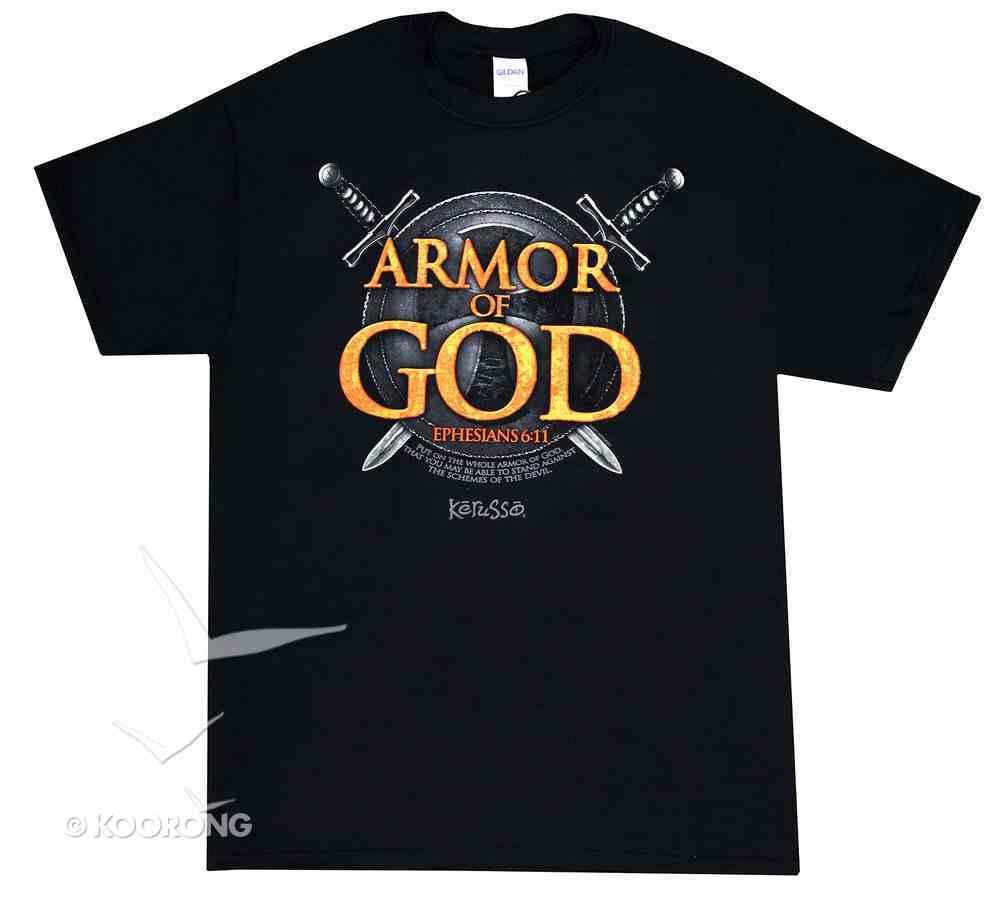 Mens T-Shirt: Armor of God Large Soft Goods