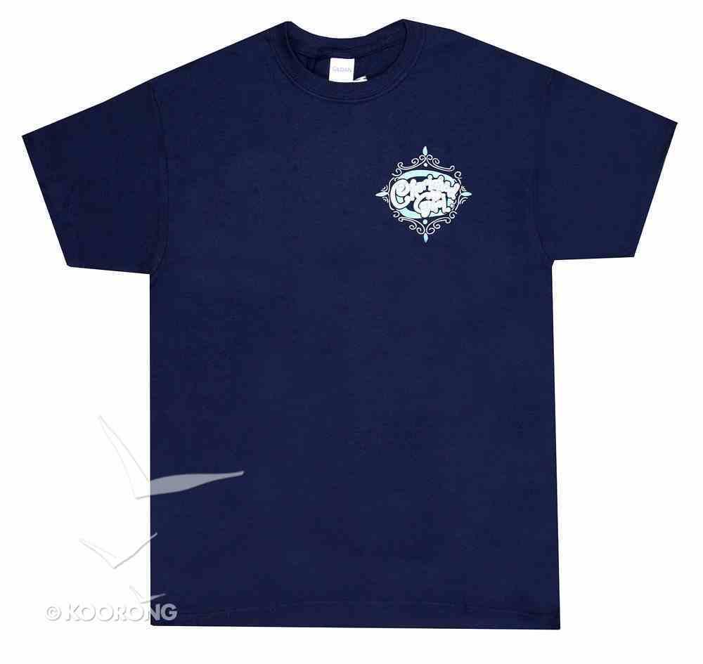 Cherished Girl Women's T-Shirt: Amazing Grace Large Navy Blue/Light Blue Cross Soft Goods