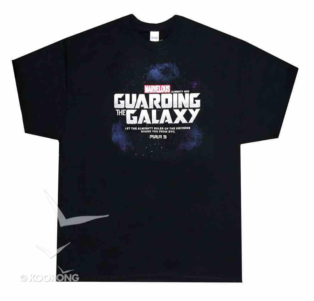 T-Shirt: Guarding the Galaxy, Medium Black/Silver (Psalm 91) Soft Goods