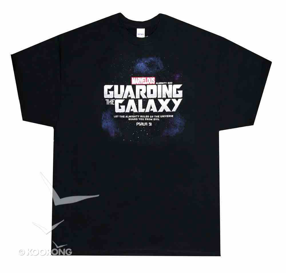 T-Shirt: Guarding the Galaxy, Large Black/Silver (Psalm 91) Soft Goods