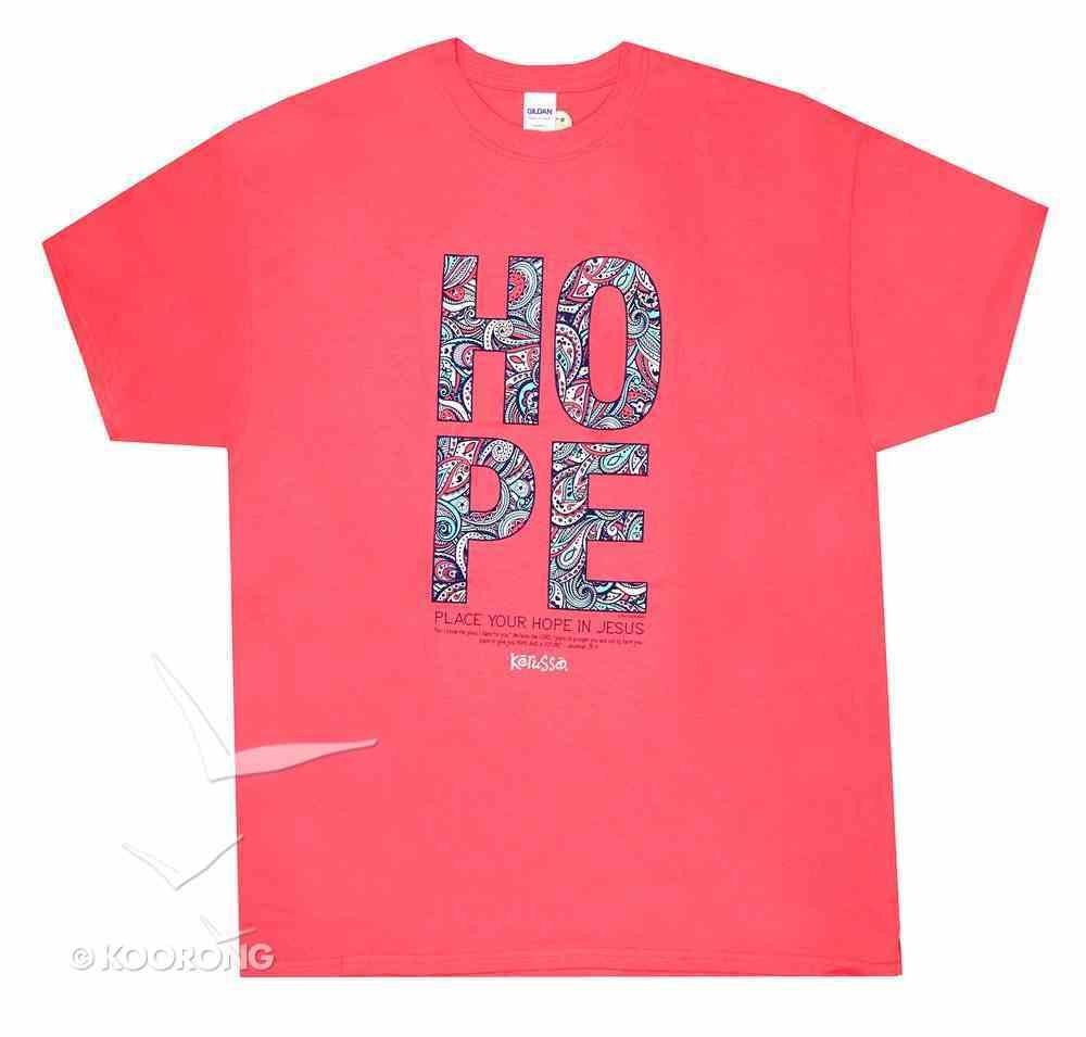 Women's T-Shirt: Hope Paisley 4xlarge Orange Coloured Pattern (Jer 29:11) Soft Goods