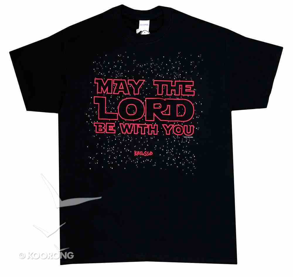 Men's T-Shirt: May the Lord 2x-Large Black/Red (2 Thess 3:16) Soft Goods