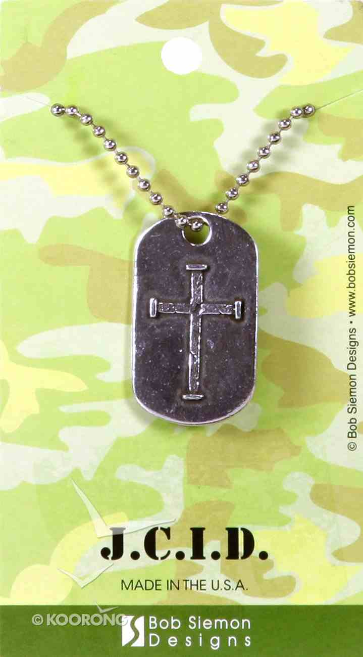 Necklace: J.C.I.D. Iron Cross Tag on a 60Cm Ball Chain Jewellery