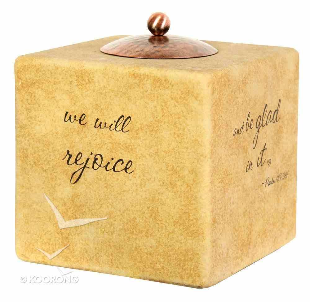Comfort Candle: Rejoice, Square (Psalm 118:24) Homeware