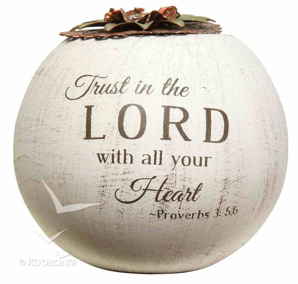 Light Your Way Round Tea Candle: Trust in the Lord (Proverbs 3:5-6) Homeware