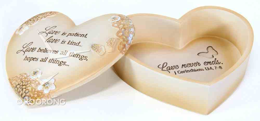 Heart Keepsake Box: Love, Light Your Way Every Day, Cream/Floral Homeware