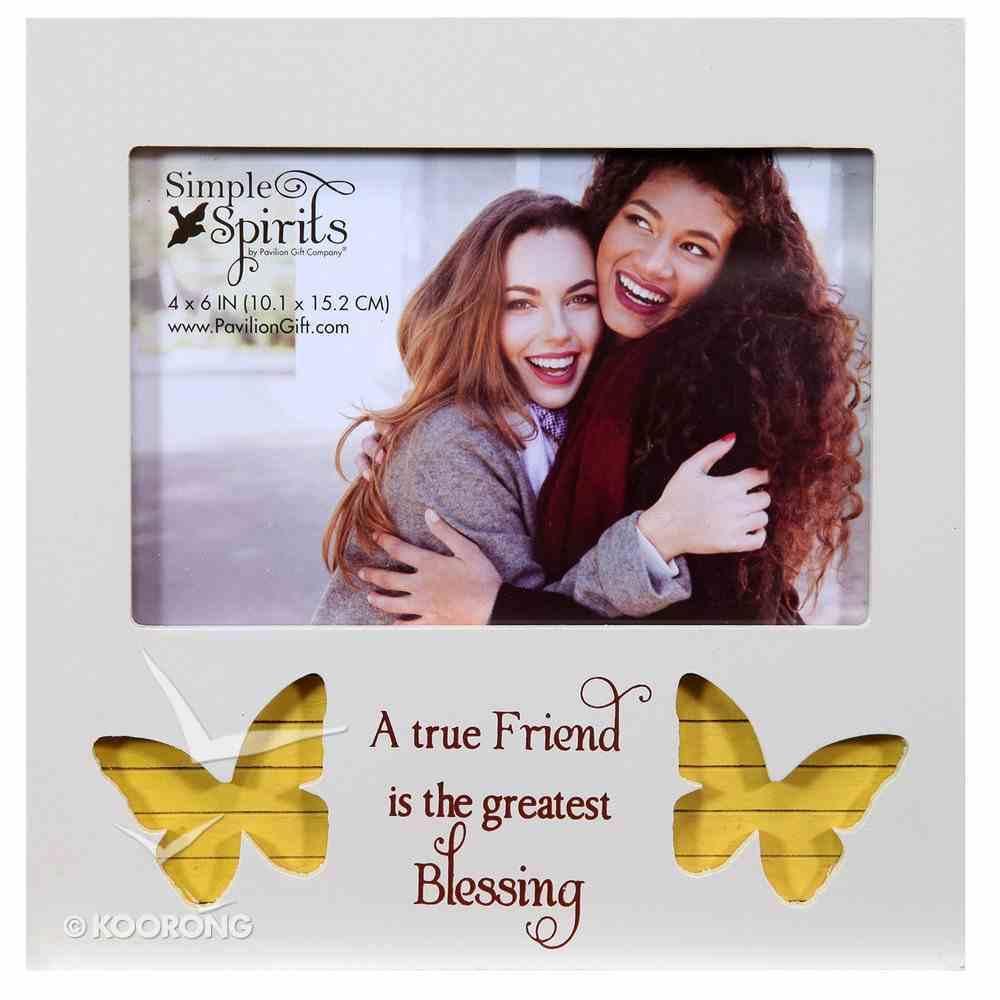 Photo Frame Simple Spirits: Friend, Yellow Butterflies Homeware