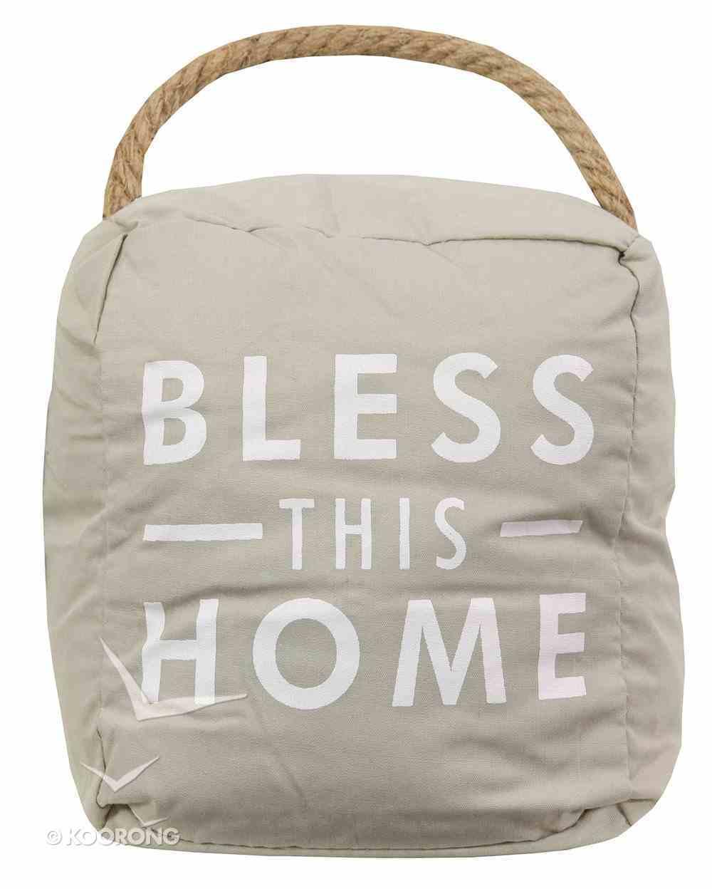Door Stopper: Bless This Home, Beige/White Homeware