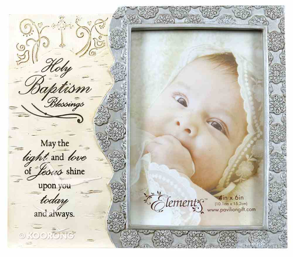 Elements Photo Frame: Holy Baptism Blessings, May the Light and Love of Jesus Shine Upon You Today and Always Homeware