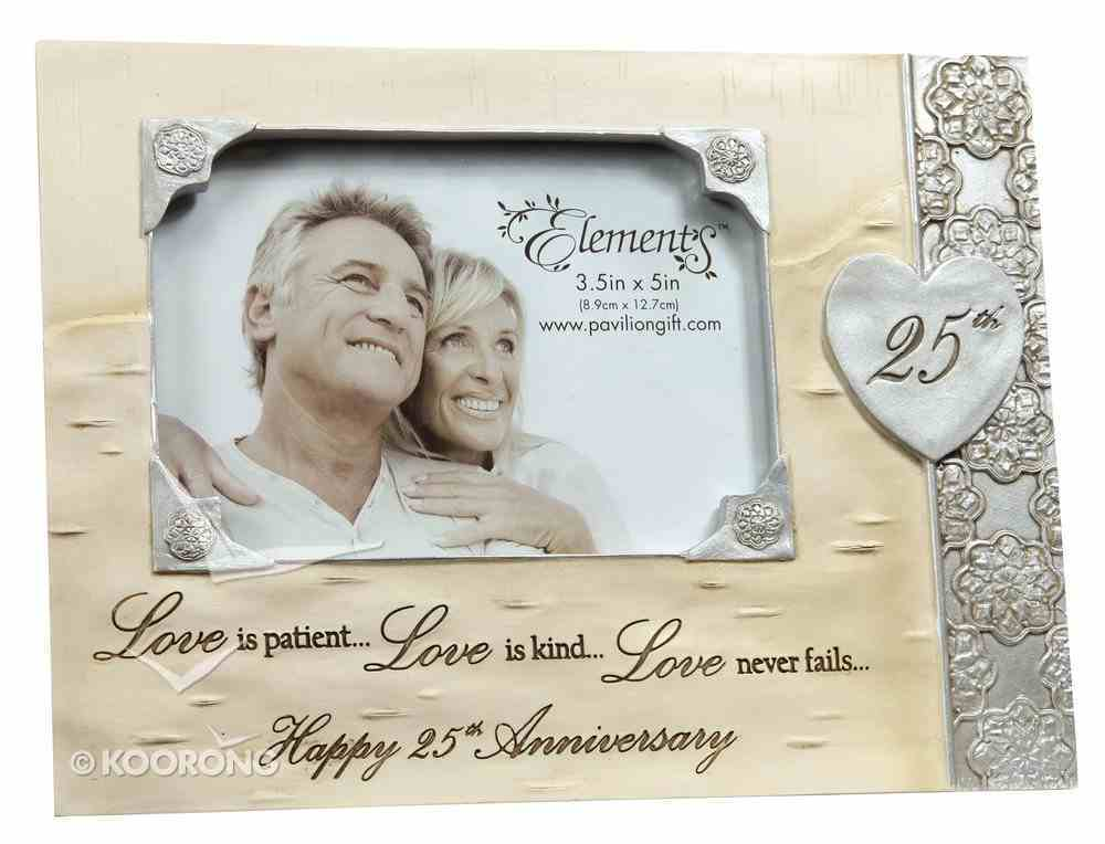 Elements Photo Frame: 25Th Anniversary, Love is Patient, Love is Kind...Love Never Fails...Happy 25Th Anniversary Homeware