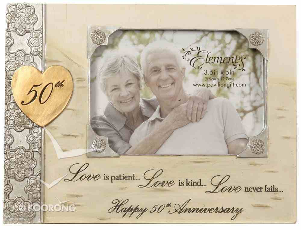 Elements Photo Frame: 50Th Anniversary, Love is Patient, Love is Kind...Love Never Fails...Happy 50Th Anniversary Homeware