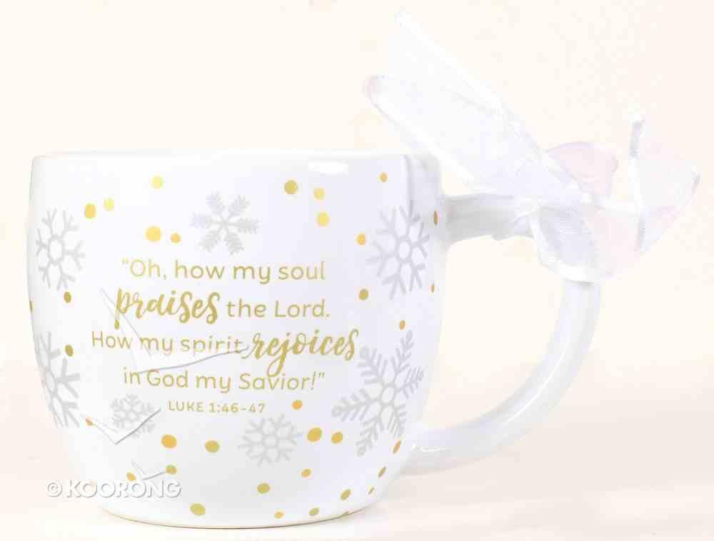 Christmas Season of Joy Ceramic Mug: Joy Gold and White (Luke 1:46-47) Homeware