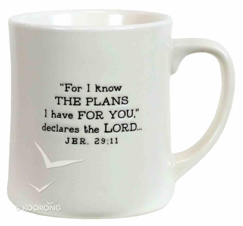 Ceramic Mug: Hope God's Promises, Cream (Jeremiah 29:11) Homeware