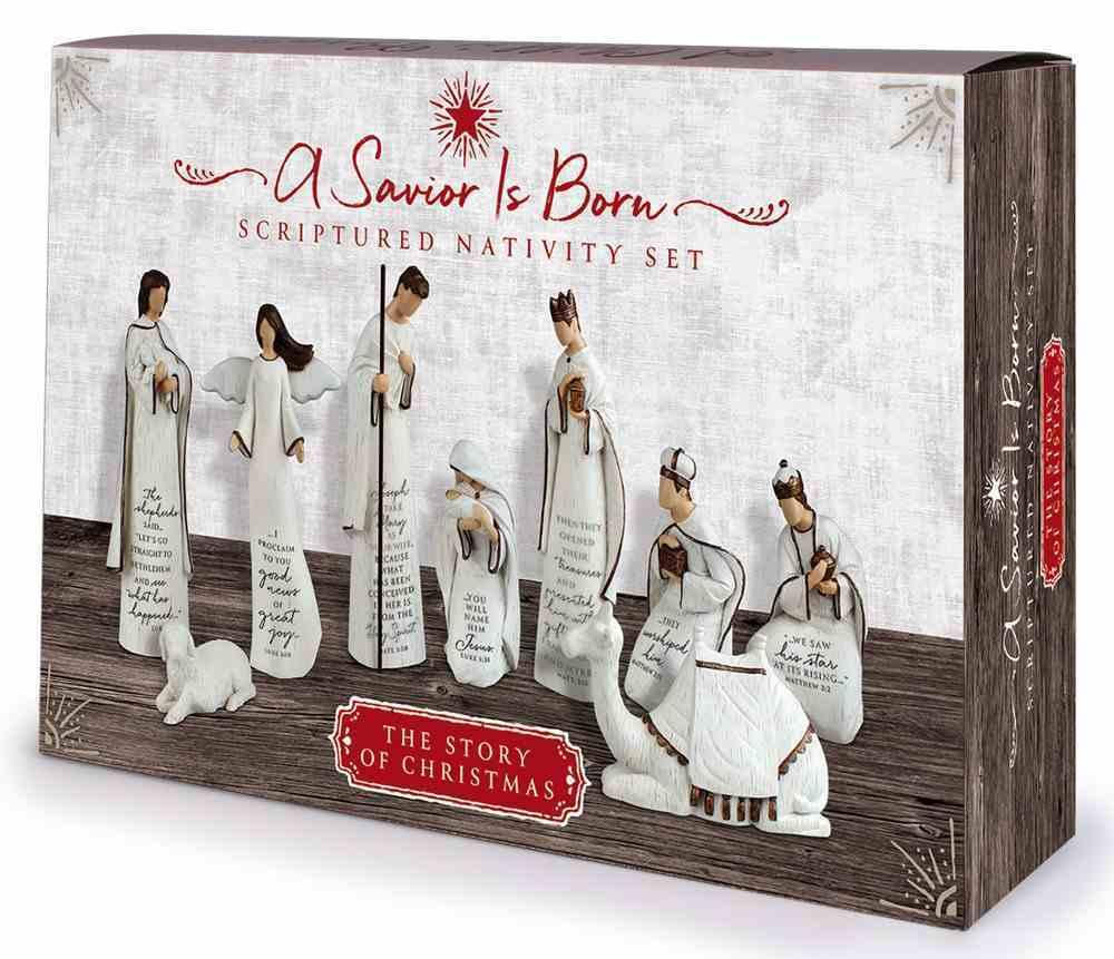 Christmas Resin Nativity Set: Savior is Born Homeware