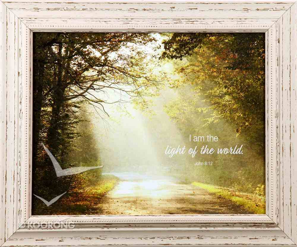 'Outlooks' Framed Art: I Am the Light of the World (John 8:12) Plaque