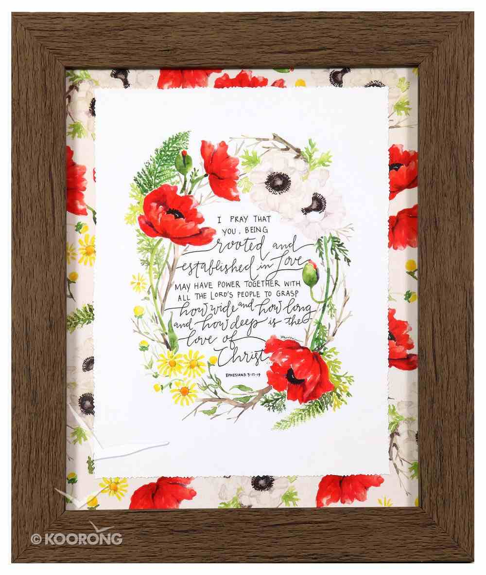 Gracelaced Framed Art Print: Rooted and Established, Poppy Flowers Plaque