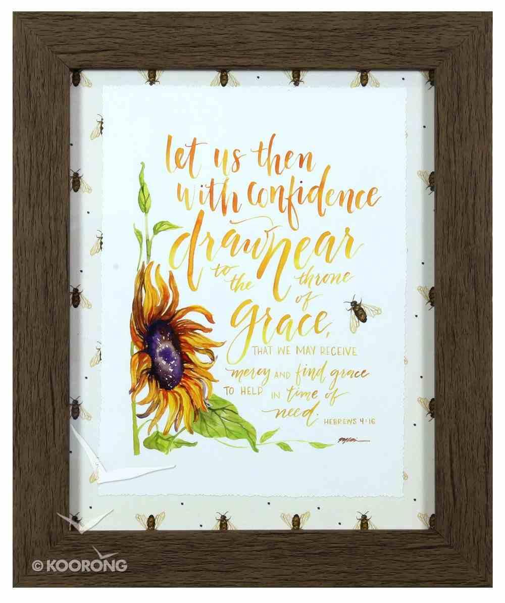 Gracelaced Framed Art Print: Draw Near, Sunflower (Hebrews 4:16) Plaque