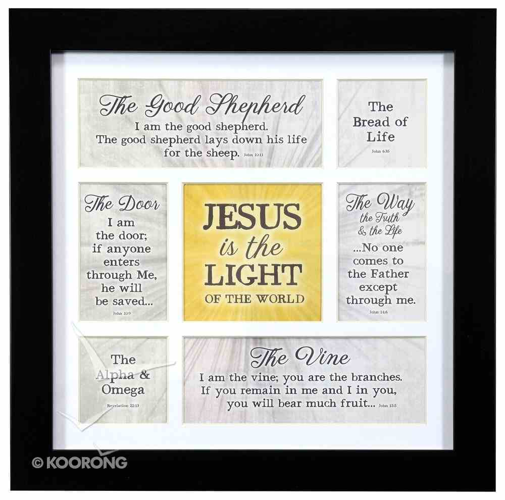 Framed Art Print: Jesus is the Lord of the World Plaque