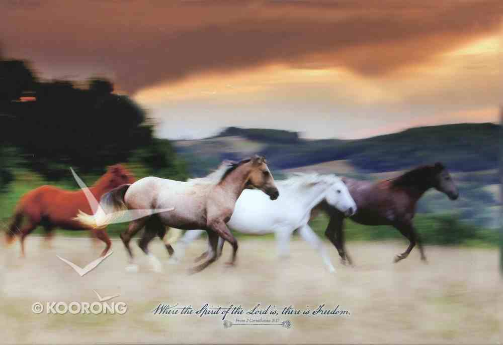 Canvas Wall Art: Where the Spirit of the Lord Is... Wild Horses Running Plaque