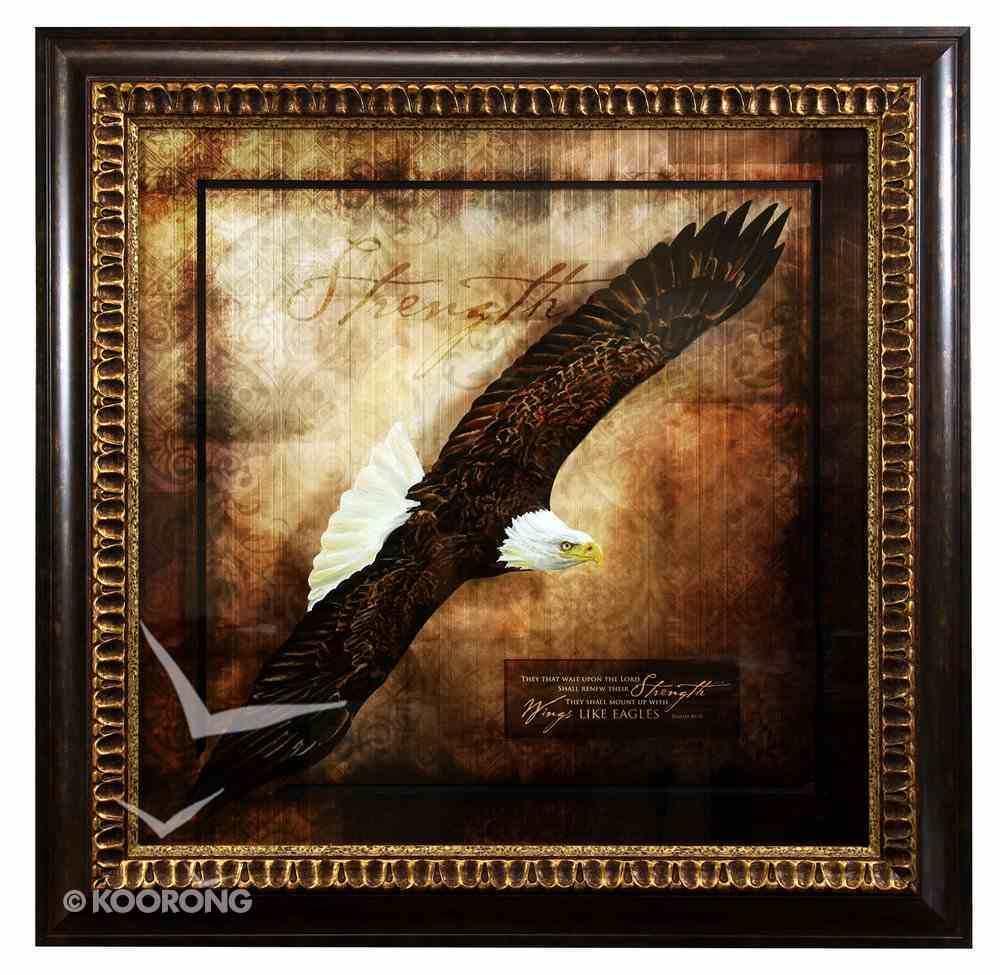 Framed Art Print: Wings Like Eagles Plaque