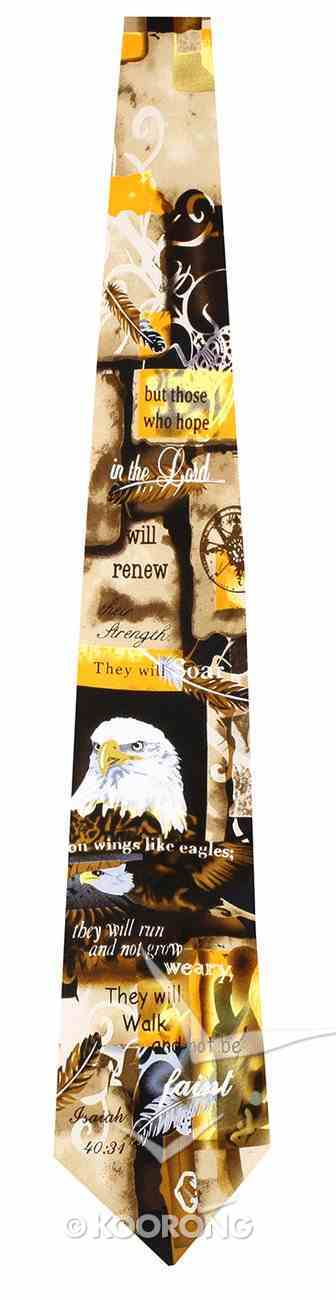 Silk Tie: Eagle (Isaiah 40:31) Soft Goods