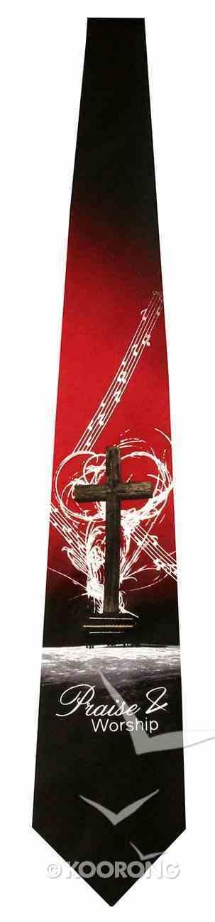 Silk Tie: Praise & Worship Him Soft Goods