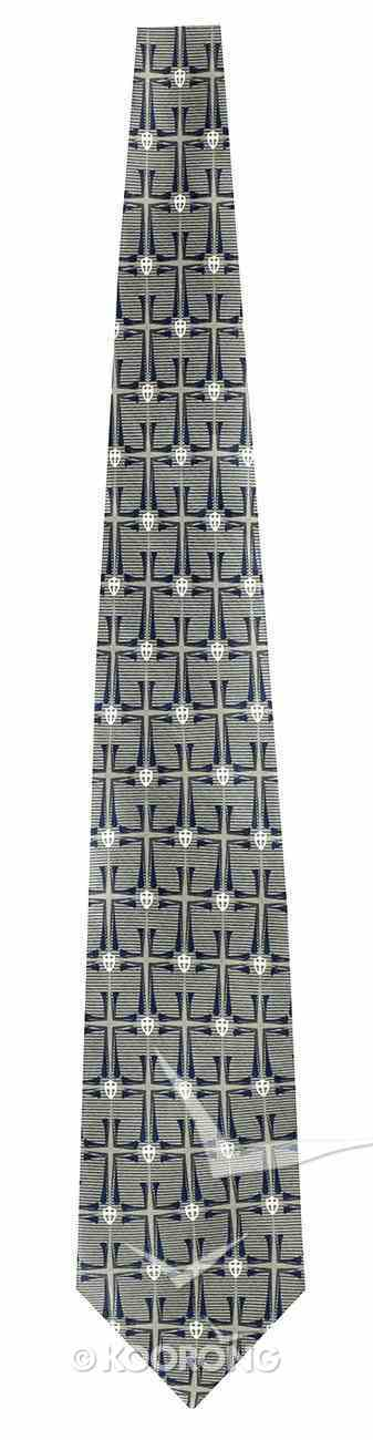 Silk Tie: Crossover Blue/Gray Soft Goods