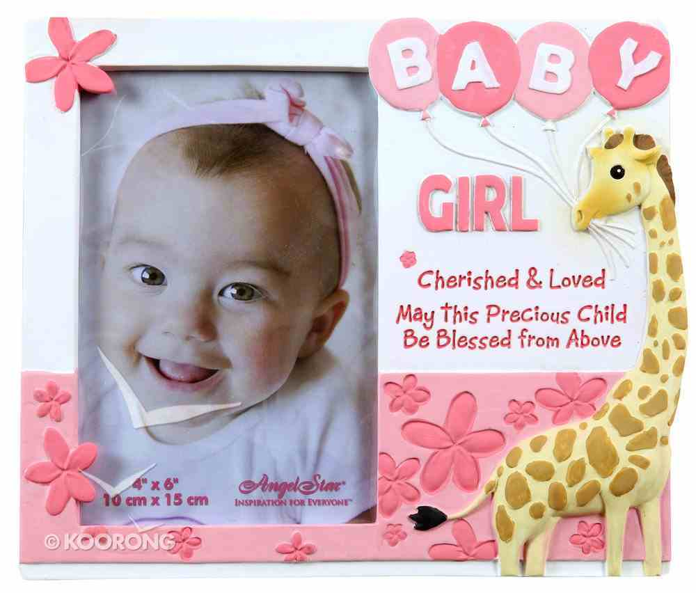 Cherished Blessings Photo Frame: Girl, May This Precious Child Be Blessed From Above Plaque