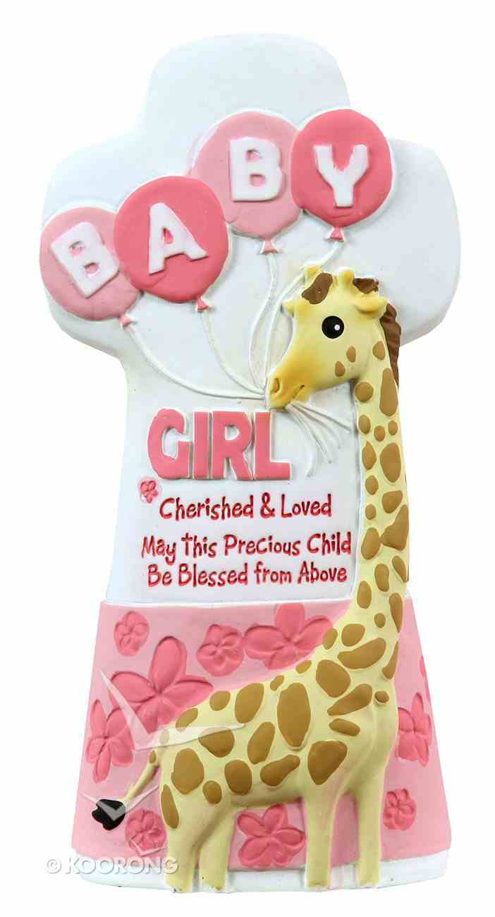 Cherished Blessings Cross: Girl, May This Precious Child Be Blessed From Above Plaque