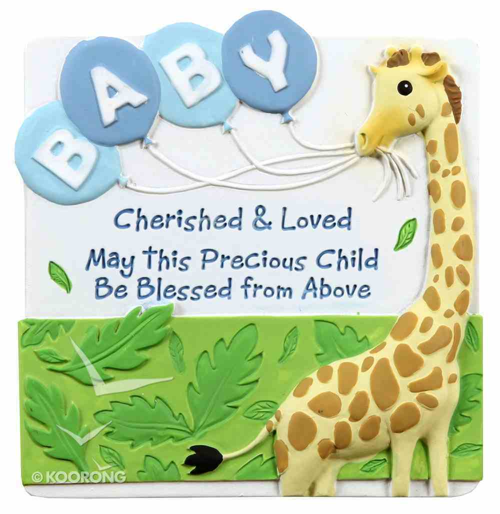 Cherished Blessings Plaque: Boy, May This Precious Child Be Blessed From Above Plaque