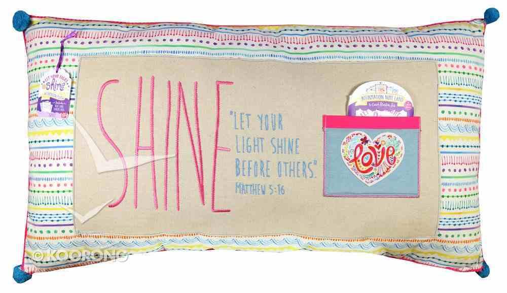 Jumbo Affirmation Pillow: Shine, Let Your Light Shine (All Colours) Soft Goods