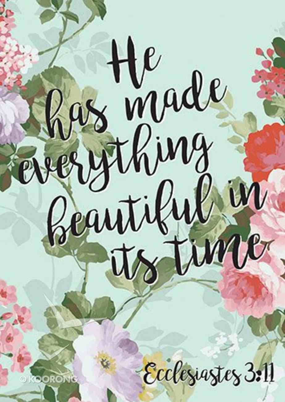 Poster Large: Everything Beautiful - Ecc 3:11 Poster