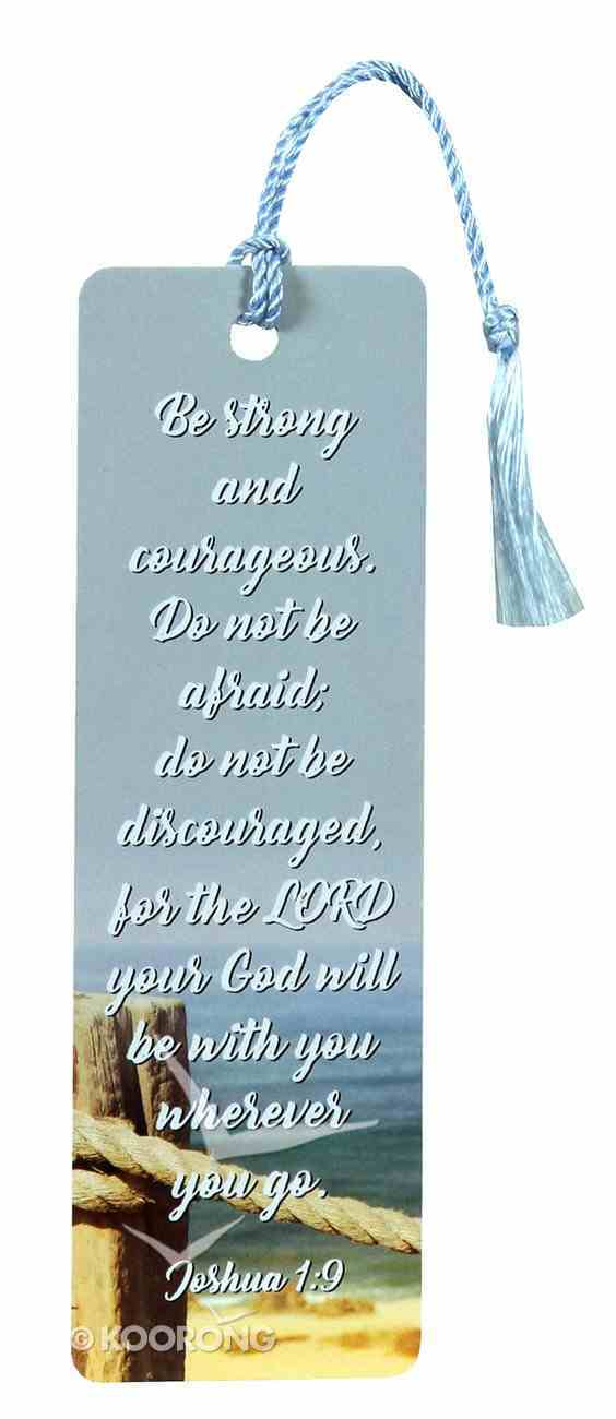 Bookmark With Tassel: Be Strong and Courageous (Joshua 1:9) Stationery