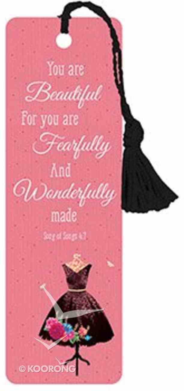 Bookmark With Tassel: You Are Beautiful Stationery