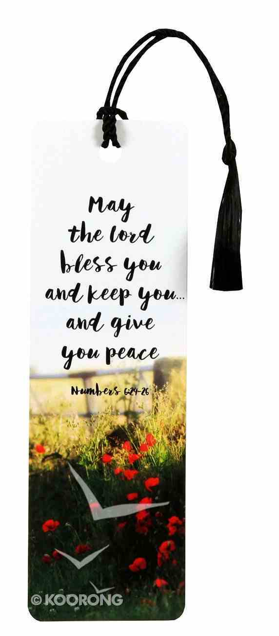 Bookmark With Tassel: May the Lord Bless You and Keep You and Give You Peace (Numbers 6: 24-25) Stationery