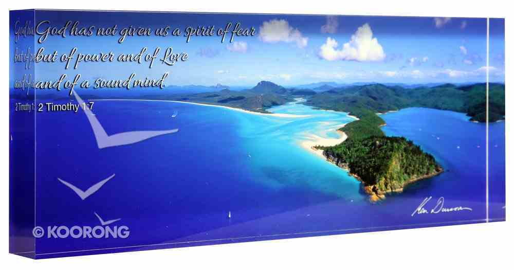 Ken Duncan Photo Block: Hill Inlet, 2 Timothy 1:7 Plaque