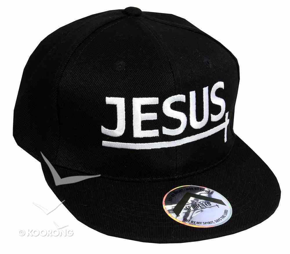 Snapback Cap: Jesus Black/Black Soft Goods